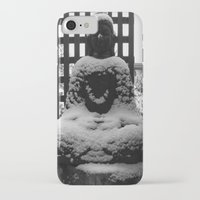 buddah iPhone & iPod Cases featuring Snowy Buddah by Nearlycanadian