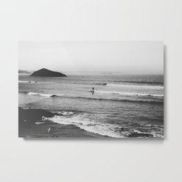 Paddling Waves Metal Print