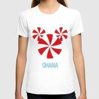 ohana T-shirts featuring Ohana Mickey by KaylaMessies