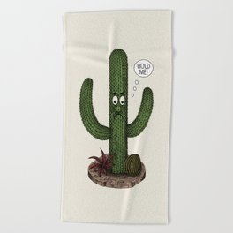 Cactus Need Love Too Beach Towel