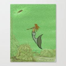 The Golden Mermaid Canvas Print