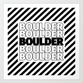 Boulder USA CITY Funny Gifts Art Print