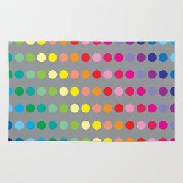 Rainbow Circles (Gray) Rug
