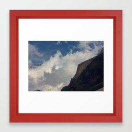 Rock Clouds Sky Framed Art Print