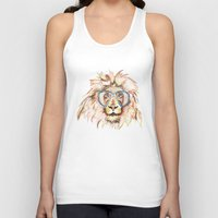 scuba Tank Tops featuring Scuba Lion by Kristen Williams