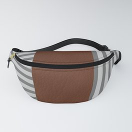 Stripe Block in Grey Fanny Pack
