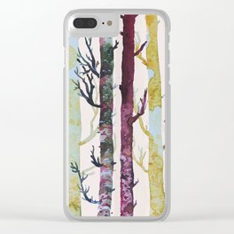 Color Forest Clear iPhone Case