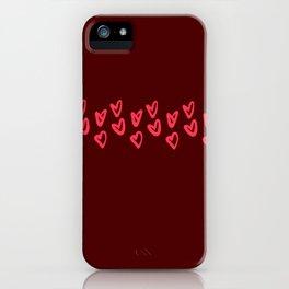 06DA144   Love   Valentine Day   Pattern   Digital Art   Artist Amiee iPhone Case
