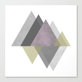 To the Mountains I Must Go, Abstract Geometric Art Canvas Print