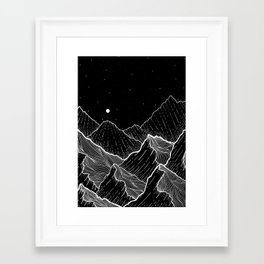 Sea mountains Framed Art Print