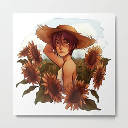Sunflower Rin Metal Print