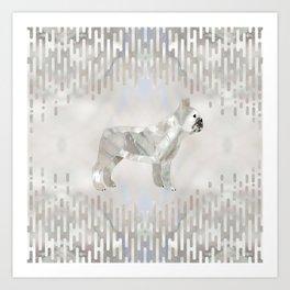 French Bulldog Frenchie pearl silhouette Art Print