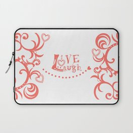Live Love Laugh in Coral Laptop Sleeve