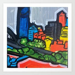 Brisbane City Painting Series Art Print