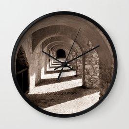 Corridors of Stone Wall Clock