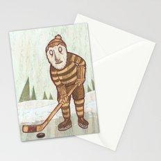 Hockey Yeti Stationery Cards