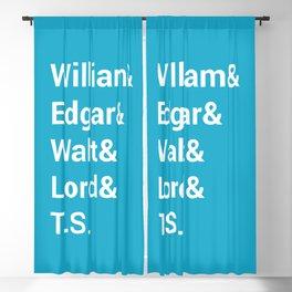 Poet Names Blackout Curtain