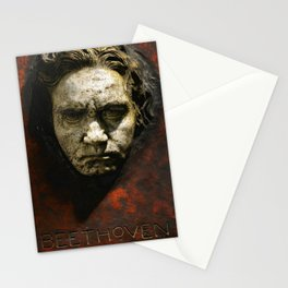 Ludwig van Beethoven (1770-1827) by Franz von Stuck (1863 - 1928)(1) Stationery Cards