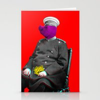 general Stationery Cards featuring General Schweinebacke by Marko Köppe