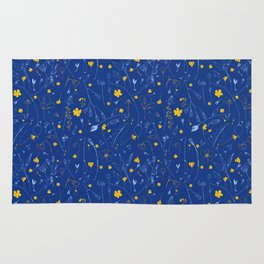 June Garden -Yellow and blue Rug