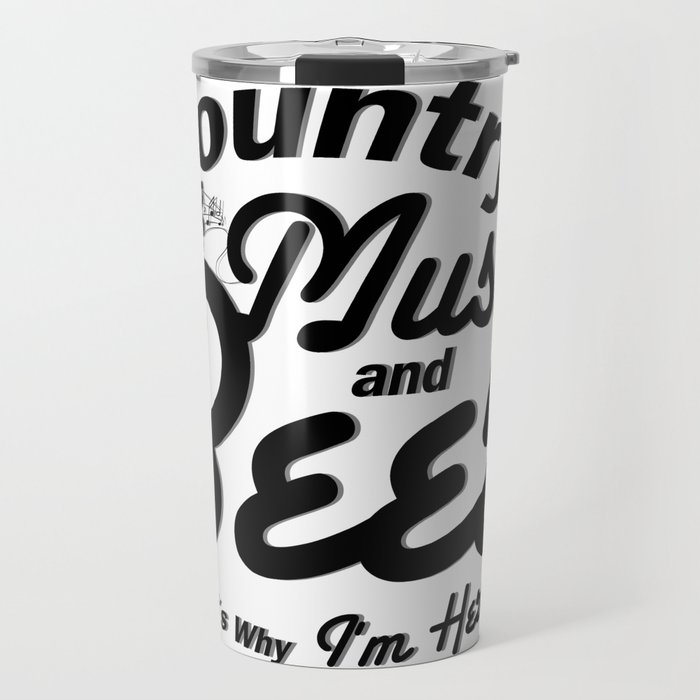 Country Music and Beer Travel Mug