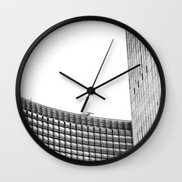 modern style buildings at Las Vegas, USA in black and white Wall Clock
