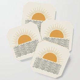 Sunrise Ocean -  Mid Century Modern Style Coaster