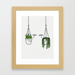 Hippie and Punk plants Framed Art Print