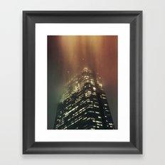 Misty Tower Framed Art Print