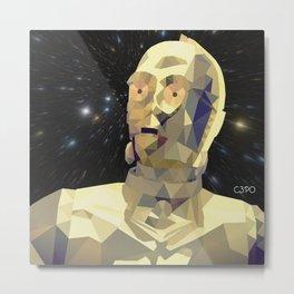 C3po Poly Art Metal Print