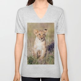Young lion Unisex V-Neck
