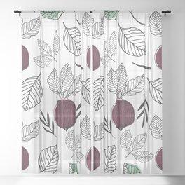 Organic Beet Sheer Curtain