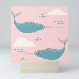 Narwhal pink Mini Art Print