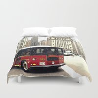 chicago Duvet Covers featuring Chicago by KellyLynne on the Coast