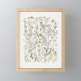 Grey Cheetahs Framed Mini Art Print