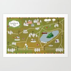 Map of Laurelhurst Park Art Print