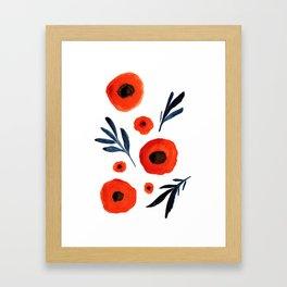 Red Poppies Specimen Framed Art Print