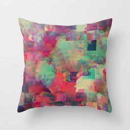 Pixelated Happiness Throw Pillow