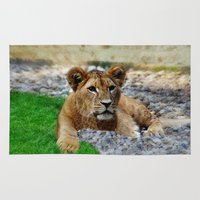 lion king Area & Throw Rugs featuring King Lion by helsch photography