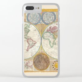 Map 1794 Laurie & Whittle Clear iPhone Case