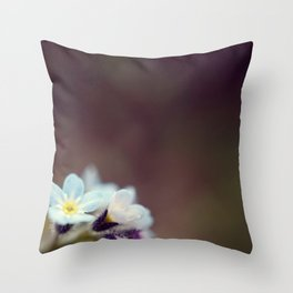 Forget me knot Throw Pillow