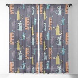 Secretly Vegetarian Monsters Sheer Curtain
