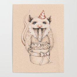 Birthday Possum's Favorite Gift Poster