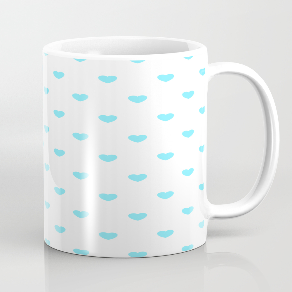 Hearts ((arctic On White)) Mug by Msjay MUG8350909