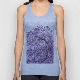 Beautiful Pine Tree Silhouette Purple Color #decor #society6 #buyart Unisex Tank Top