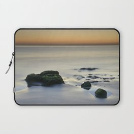 Magic reflections at sunset. Calm at the beach Laptop Sleeve