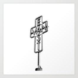 East Van Cross Art Print