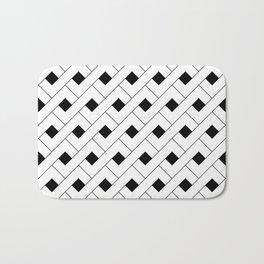 Monochrome Intricate Pattern Alpha Bath Mat