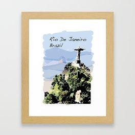 Rio De Janeiro Brazil Christ the Redeemer Framed Art Print