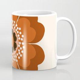 Coolie - retro flower 70s vibes minimalist floral 1970's colorful decor Coffee Mug
